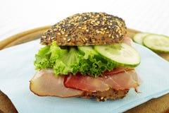 αγροτικό σάντουιτς ζαμπόν Στοκ Εικόνες