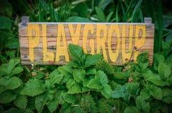 Αγροτικό σημάδι για το σχολείο Playgroup Στοκ εικόνες με δικαίωμα ελεύθερης χρήσης