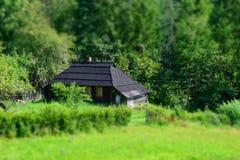 Αγροτικό σπίτι στα ξύλα Στοκ Φωτογραφία