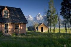 αγροτικό σπίτι teton στοκ φωτογραφία με δικαίωμα ελεύθερης χρήσης