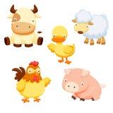 αγροτικό σύνολο ζώων διανυσματική απεικόνιση