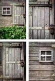 Αγροτικό σύνολο υποβάθρου σπιτιών Στοκ φωτογραφία με δικαίωμα ελεύθερης χρήσης