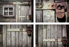 Αγροτικό σύνολο υποβάθρου τοίχων σπιτιών Στοκ εικόνες με δικαίωμα ελεύθερης χρήσης