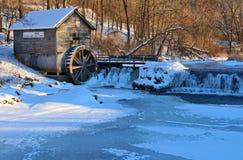 Αγροτικό τοπίο με παλαιό που εγκαταλείπεται watermill στα ξύλα στοκ εικόνες με δικαίωμα ελεύθερης χρήσης