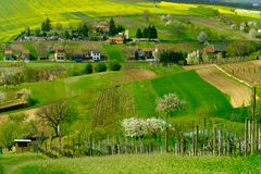 Αγροτικό τοπίο στην επαρχία στη νότια Μοραβία Στοκ Εικόνες