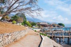 Αγροτικό τοπίο στη λίμνη Atitlan στη Γουατεμάλα στοκ εικόνες με δικαίωμα ελεύθερης χρήσης
