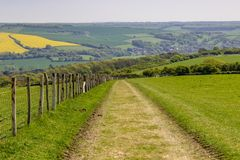 Αγροτικό τοπίο του Σάσσεξ στοκ εικόνες με δικαίωμα ελεύθερης χρήσης