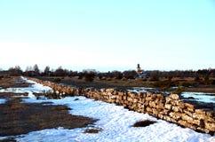 Αγροτικό τοπίο το χειμώνα στοκ εικόνα