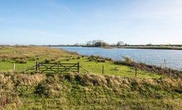 Αγροτικό τοπίο φθινοπώρου στις Κάτω Χώρες Στοκ φωτογραφία με δικαίωμα ελεύθερης χρήσης
