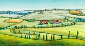 Αγροτικό τοπίο διανυσματική απεικόνιση