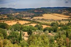 Αγροτικό τοπίο Maremma, Τοσκάνη, Ιταλία Στοκ Φωτογραφία
