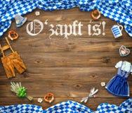 Αγροτικό υπόβαθρο για Oktoberfest Στοκ φωτογραφία με δικαίωμα ελεύθερης χρήσης