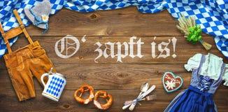Αγροτικό υπόβαθρο για Oktoberfest Στοκ Φωτογραφίες
