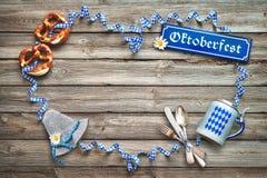 Αγροτικό υπόβαθρο για Oktoberfest Στοκ φωτογραφίες με δικαίωμα ελεύθερης χρήσης