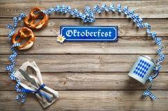 Αγροτικό υπόβαθρο για Oktoberfest Στοκ Εικόνα