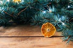 Αγροτικό υπόβαθρο Χριστουγέννων Στοκ Εικόνες