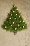Αγροτικό υπόβαθρο χριστουγεννιάτικων δέντρων κέδρων Στοκ Εικόνες