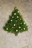 Αγροτικό υπόβαθρο χριστουγεννιάτικων δέντρων κέδρων Στοκ εικόνες με δικαίωμα ελεύθερης χρήσης