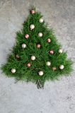Αγροτικό υπόβαθρο χριστουγεννιάτικων δέντρων κέδρων Στοκ φωτογραφίες με δικαίωμα ελεύθερης χρήσης