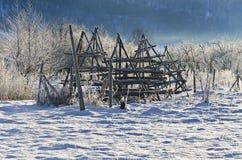 Αγροτικό χειμερινό τοπίο Στοκ φωτογραφία με δικαίωμα ελεύθερης χρήσης