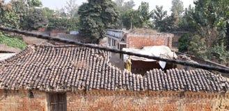 αγροτικό χωριό σκίτσων απεικόνισης βασικών σπιτιών σχεδίων στοκ φωτογραφία με δικαίωμα ελεύθερης χρήσης