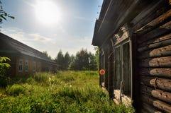 αγροτικό χωριό σκίτσων απεικόνισης βασικών σπιτιών σχεδίων Στοκ Εικόνες