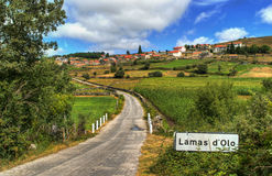 Αγροτικό χωριό Lamas de Olo στη Βίλα Ρεάλ Στοκ Φωτογραφίες