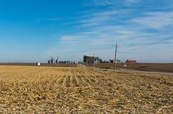 Αγροτικό Midwest καλλιεργήσιμο έδαφος στοκ εικόνες με δικαίωμα ελεύθερης χρήσης