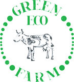 Αγρόκτημα αγελάδων Eco διανυσματική απεικόνιση