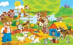 Αγρόκτημα κινούμενων σχεδίων - απεικόνιση για τα παιδιά απεικόνιση αποθεμάτων