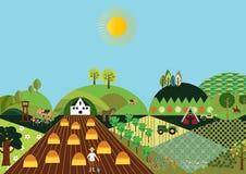 Αγρόκτημα κοιλάδων Στοκ φωτογραφία με δικαίωμα ελεύθερης χρήσης