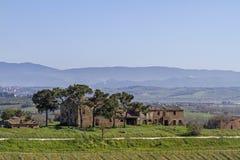 Αγρόκτημα κοντά σε Montepulciano Στοκ φωτογραφία με δικαίωμα ελεύθερης χρήσης