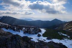 Αγρόκτημα μεταξύ των βουνών Στοκ Εικόνες