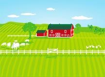 Αγρόκτημα με τα πρόβατα στοκ φωτογραφίες