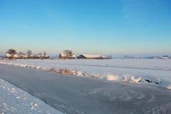 αγρόκτημα παγωμένο Στοκ εικόνα με δικαίωμα ελεύθερης χρήσης