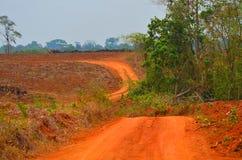 Αγρόκτημα σε ένα κόκκινο χώμα στη ζώνη της Κόστα Ρίκα Στοκ εικόνα με δικαίωμα ελεύθερης χρήσης