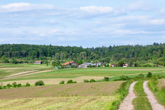 Αγρόκτημα το καλοκαίρι Στοκ Εικόνες