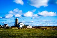 Αγρόκτημα το Νοέμβριο στοκ εικόνες