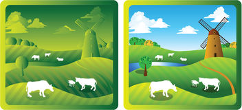 1 αγρόκτημα Στοκ εικόνες με δικαίωμα ελεύθερης χρήσης
