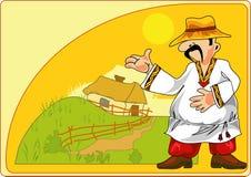 αγρότης γραφικός απεικόνιση αποθεμάτων