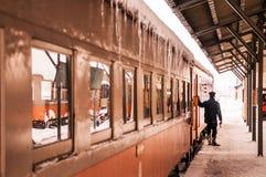 Αγωγός τραίνων του κλασικού παλαιού potbelly τραίνου σομπών, rai Tsugaru Στοκ φωτογραφίες με δικαίωμα ελεύθερης χρήσης