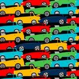 Αγωνιστικά αυτοκίνητα οδών που συσσωρεύονται σε ένα άνευ ραφής σχέδιο Στοκ φωτογραφίες με δικαίωμα ελεύθερης χρήσης