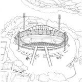 Αγωνιστικοί χώροι ποδοσφαίρου σε Krasnoyarsk Στοκ Φωτογραφίες