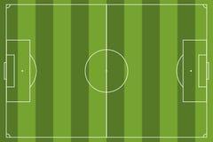 Αγωνιστικός χώρος ποδοσφαίρου απλός Στοκ εικόνες με δικαίωμα ελεύθερης χρήσης