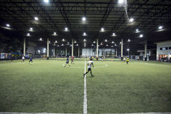 Αγωνιστικός χώρος ποδοσφαίρου εσωτερικός της Ταϊλάνδης Στοκ Εικόνες