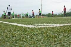 Αγωνιστικός χώρος ποδοσφαίρου Στοκ φωτογραφία με δικαίωμα ελεύθερης χρήσης