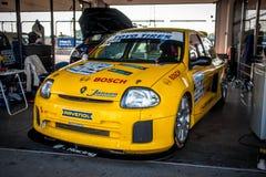 Αγωνιστικό αυτοκίνητο του Renault Clio V6 Στοκ φωτογραφία με δικαίωμα ελεύθερης χρήσης
