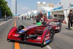 Αγωνιστικό αυτοκίνητο τύπου Ε McAfee στην πάροδο κοιλωμάτων Στοκ Εικόνες