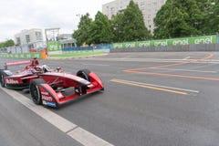 Αγωνιστικό αυτοκίνητο τύπου Ε McAfee στη πίστα αγώνων Στοκ Εικόνες