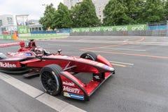 Αγωνιστικό αυτοκίνητο τύπου Ε McAfee στη πίστα αγώνων Στοκ Φωτογραφίες